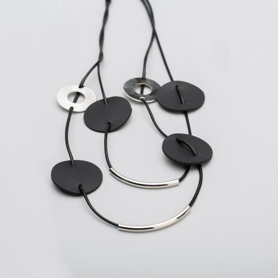 Collar discos negro