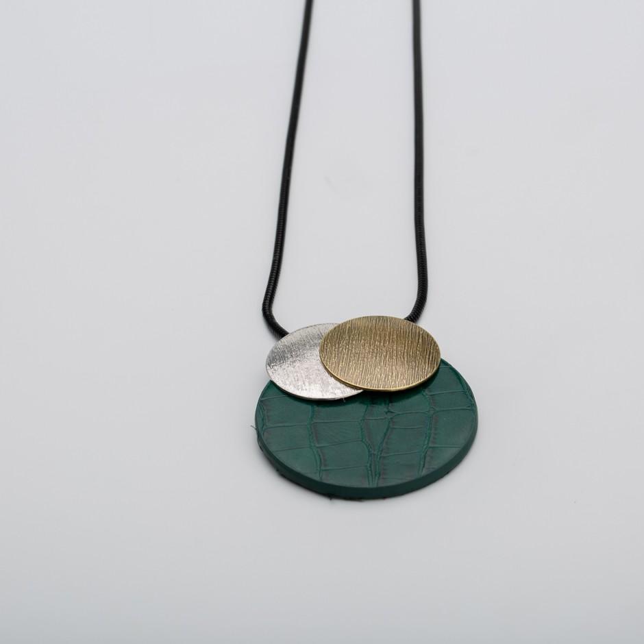 Colgante disco coco verde
