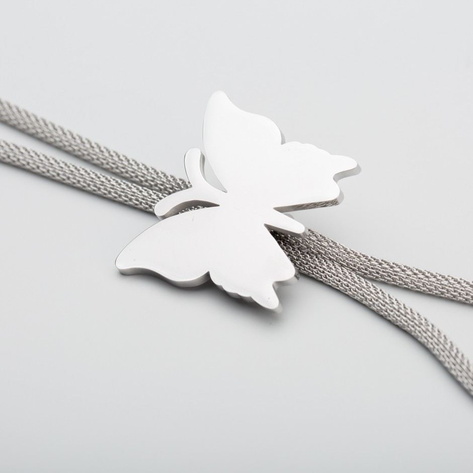 Colgante acero mariposa