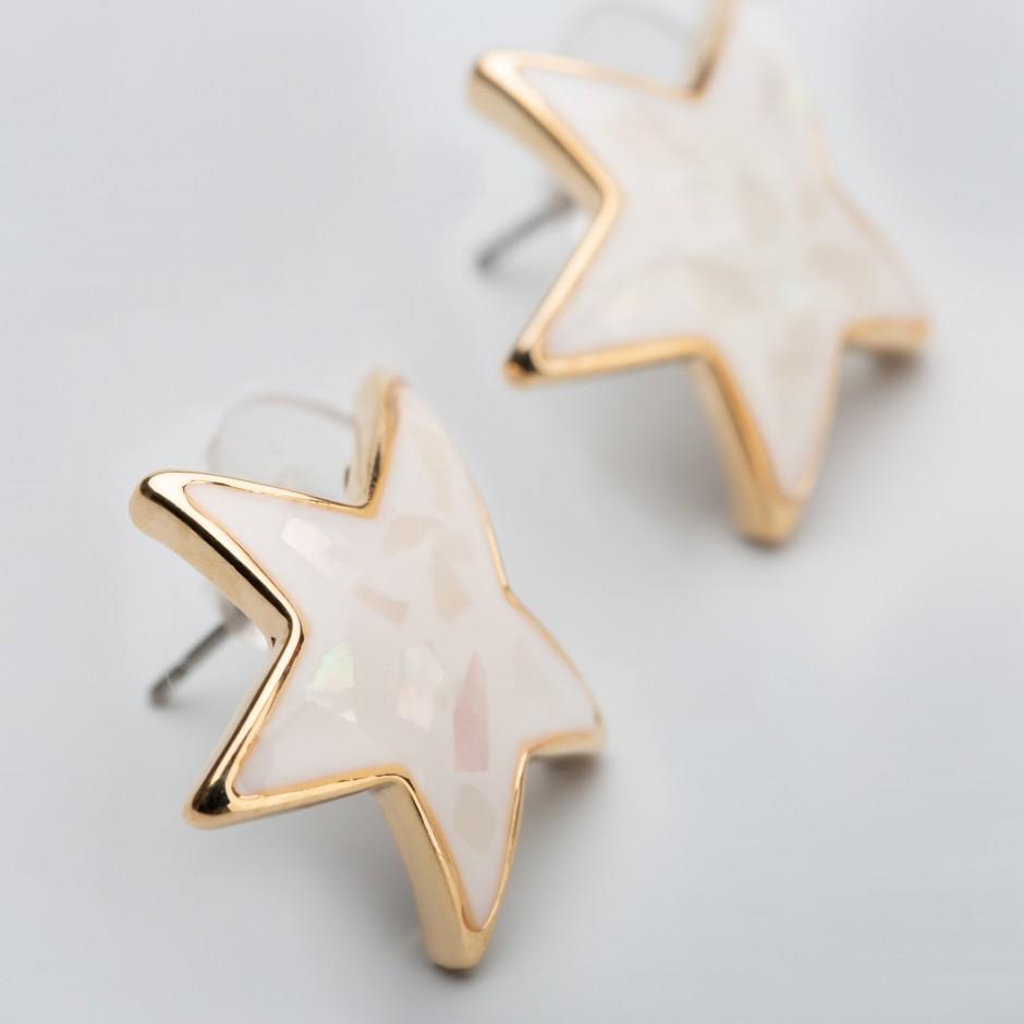 Pendiente white star