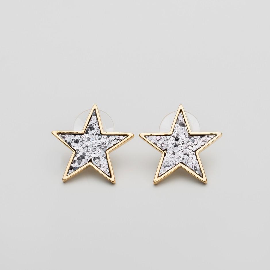 Pendiente estrella bling