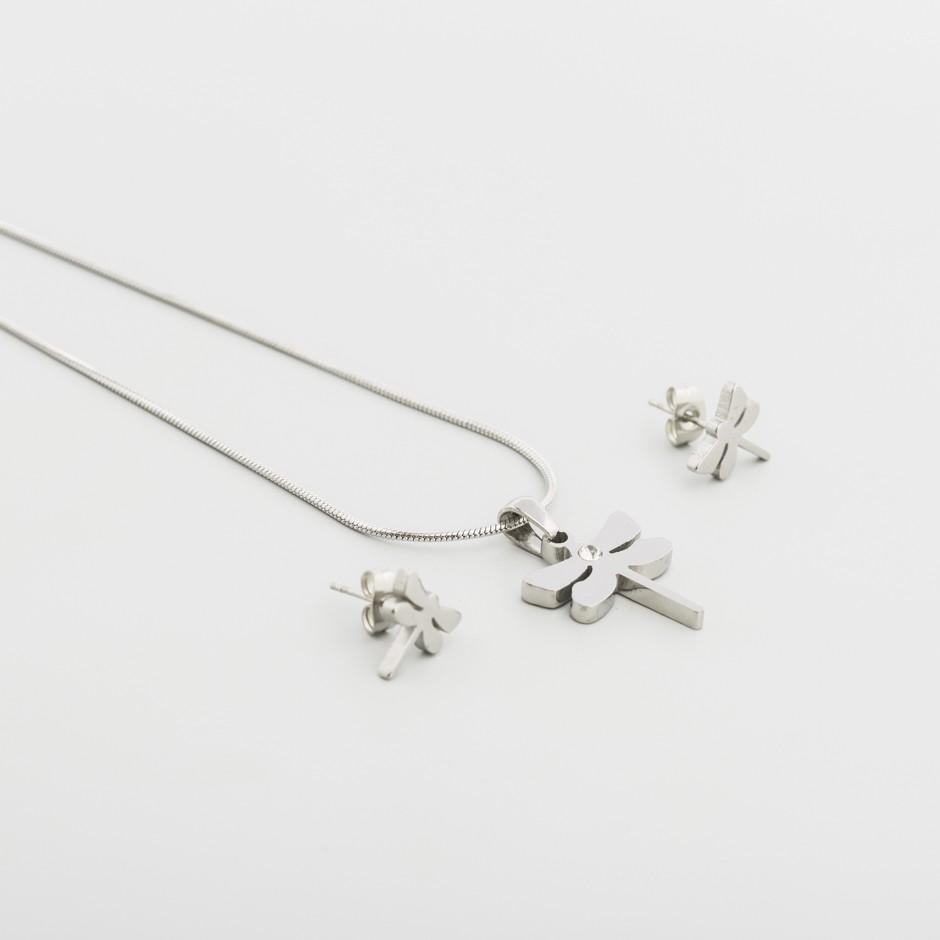 Set acero libélula