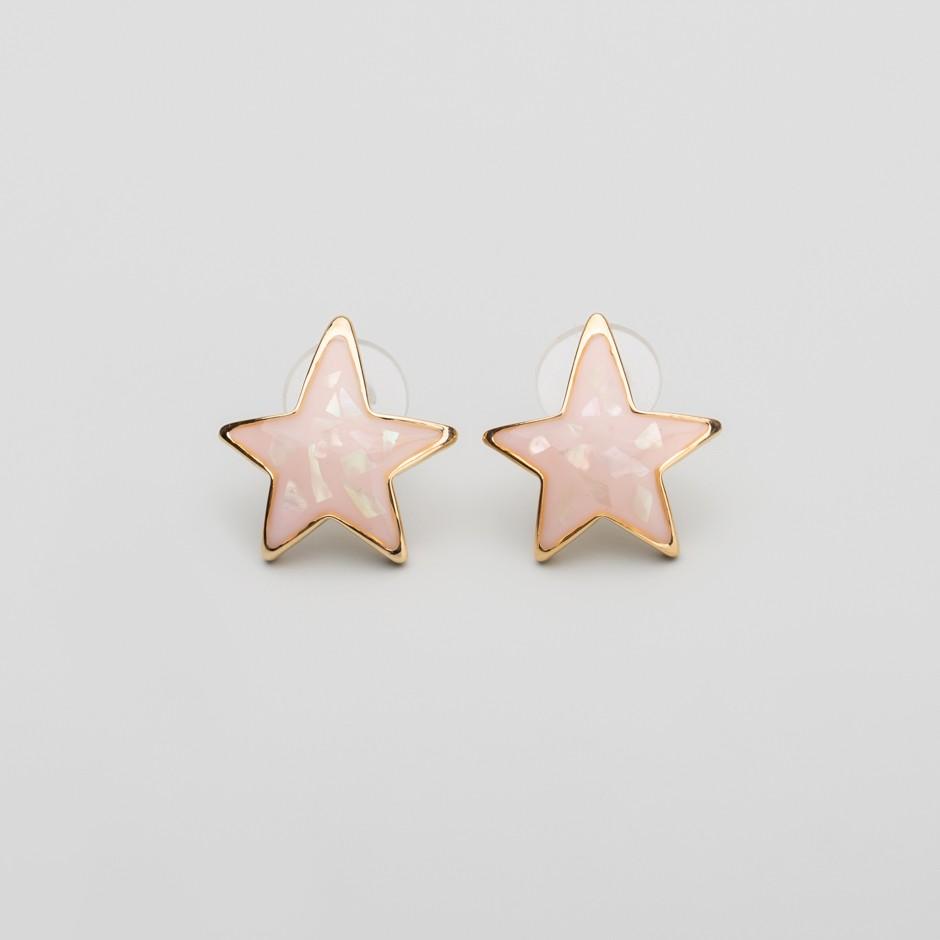 Pendiente pink star