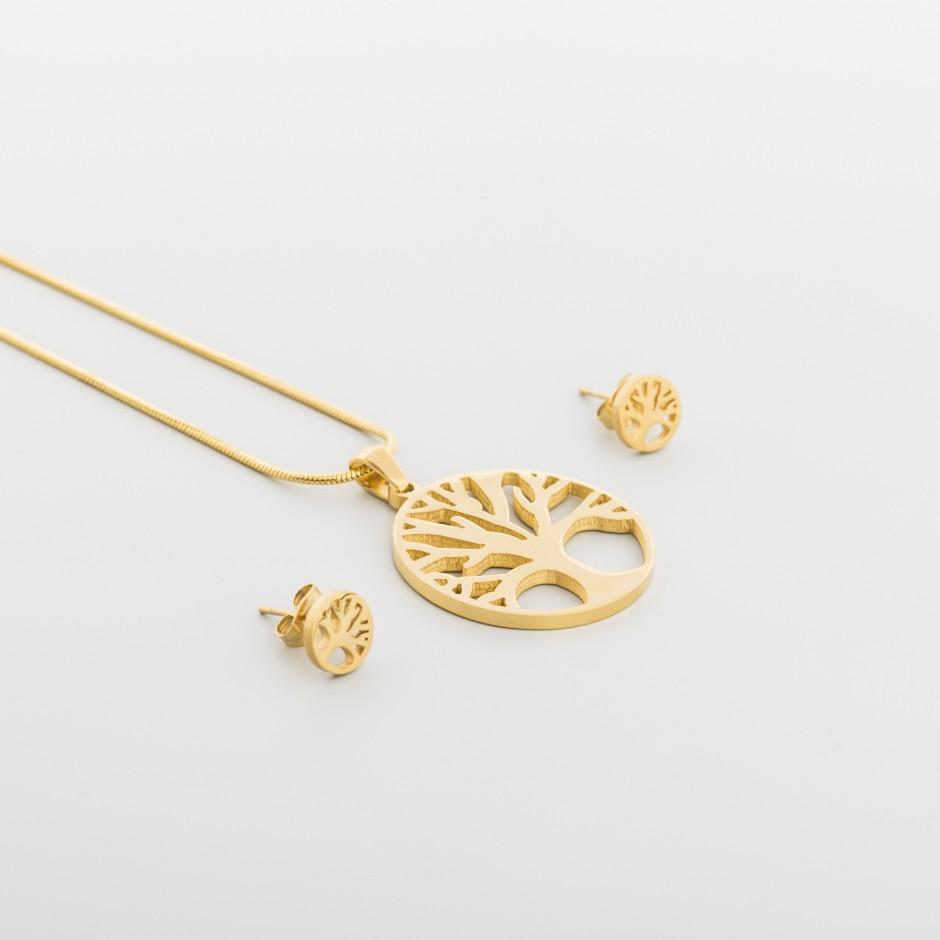 Set acero árbol dorado