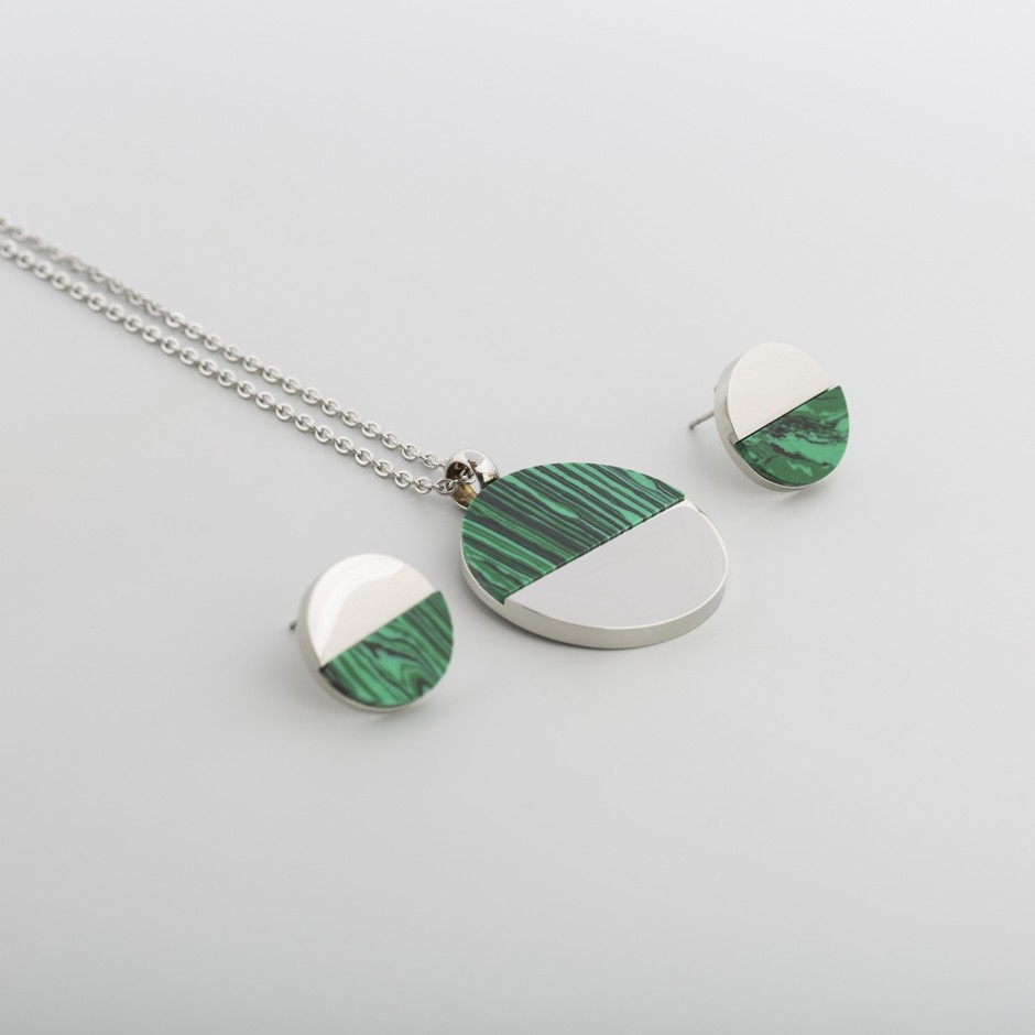 Set acero verde