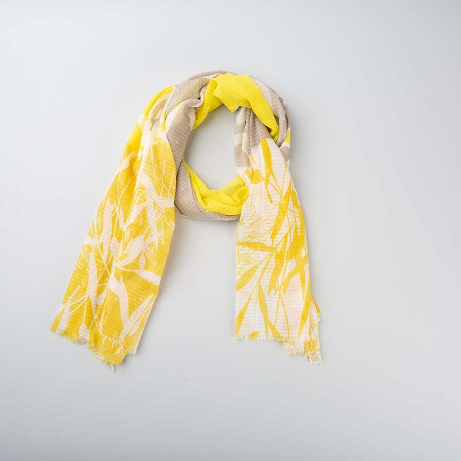 Pañuelo hojas yellow