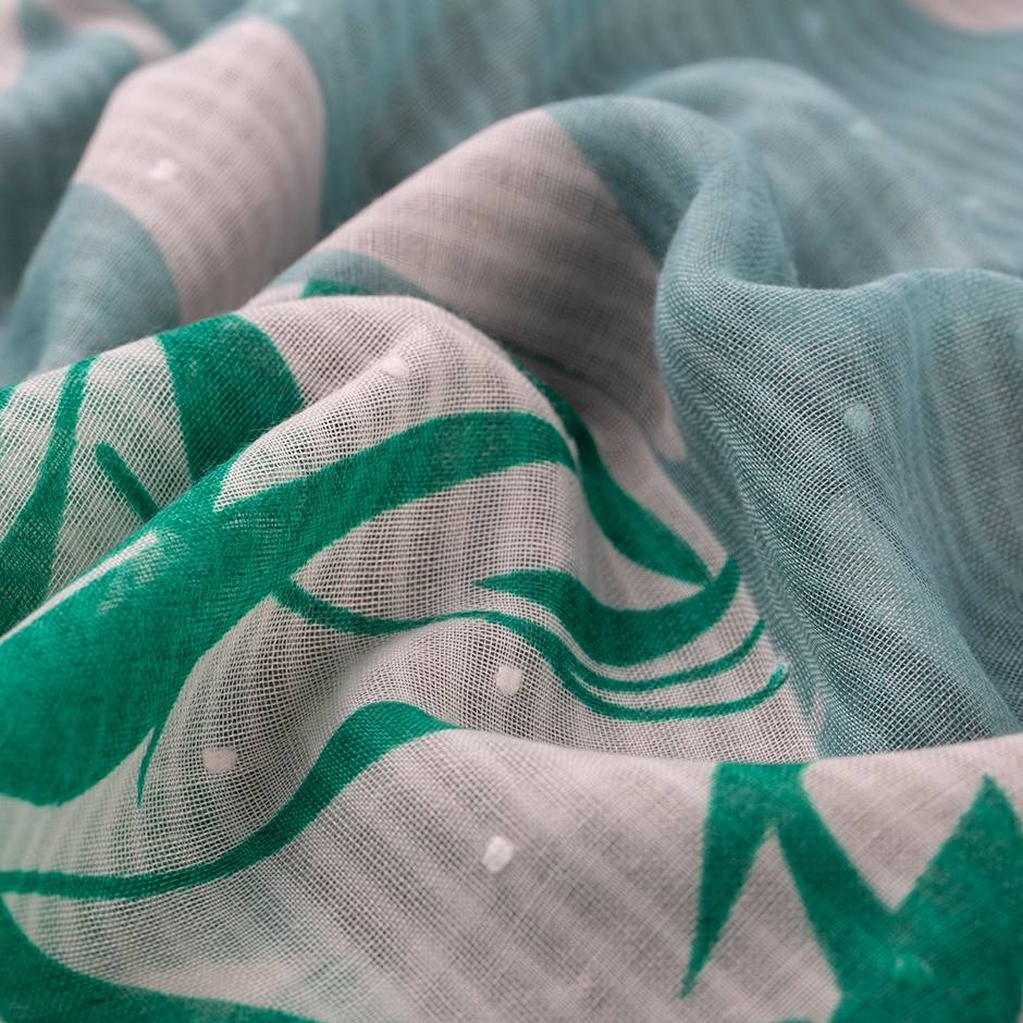 Pañuelo hojas green