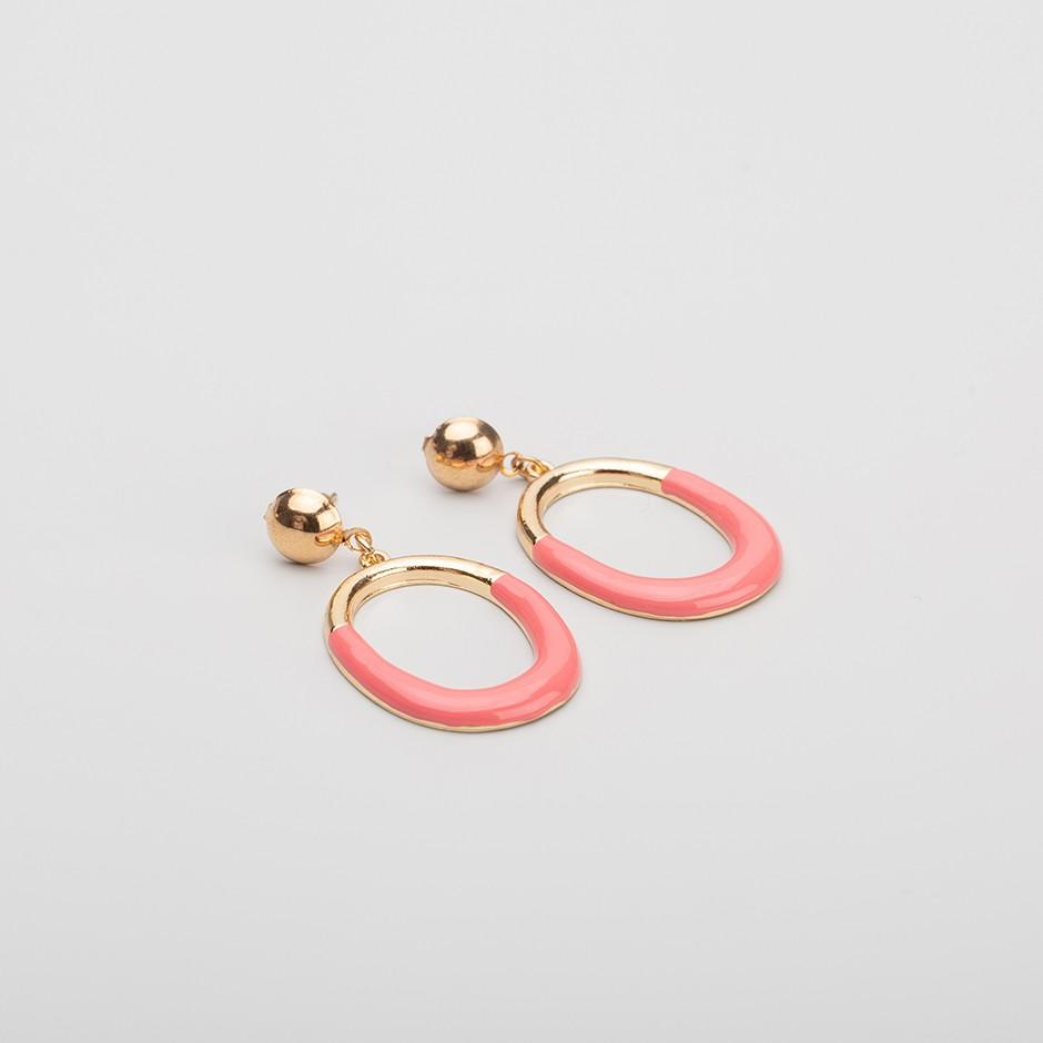 Pendiente aro rosa