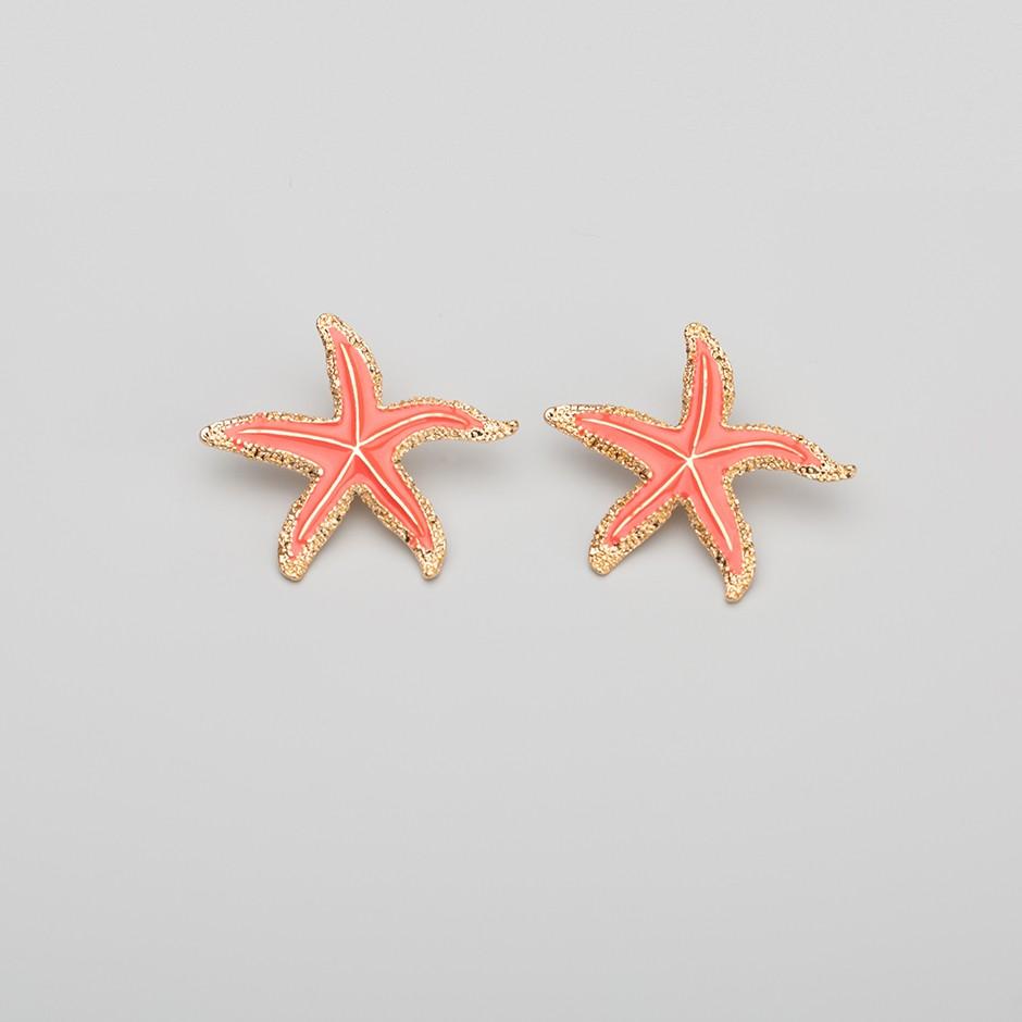 Pendiente estrella de mar coral