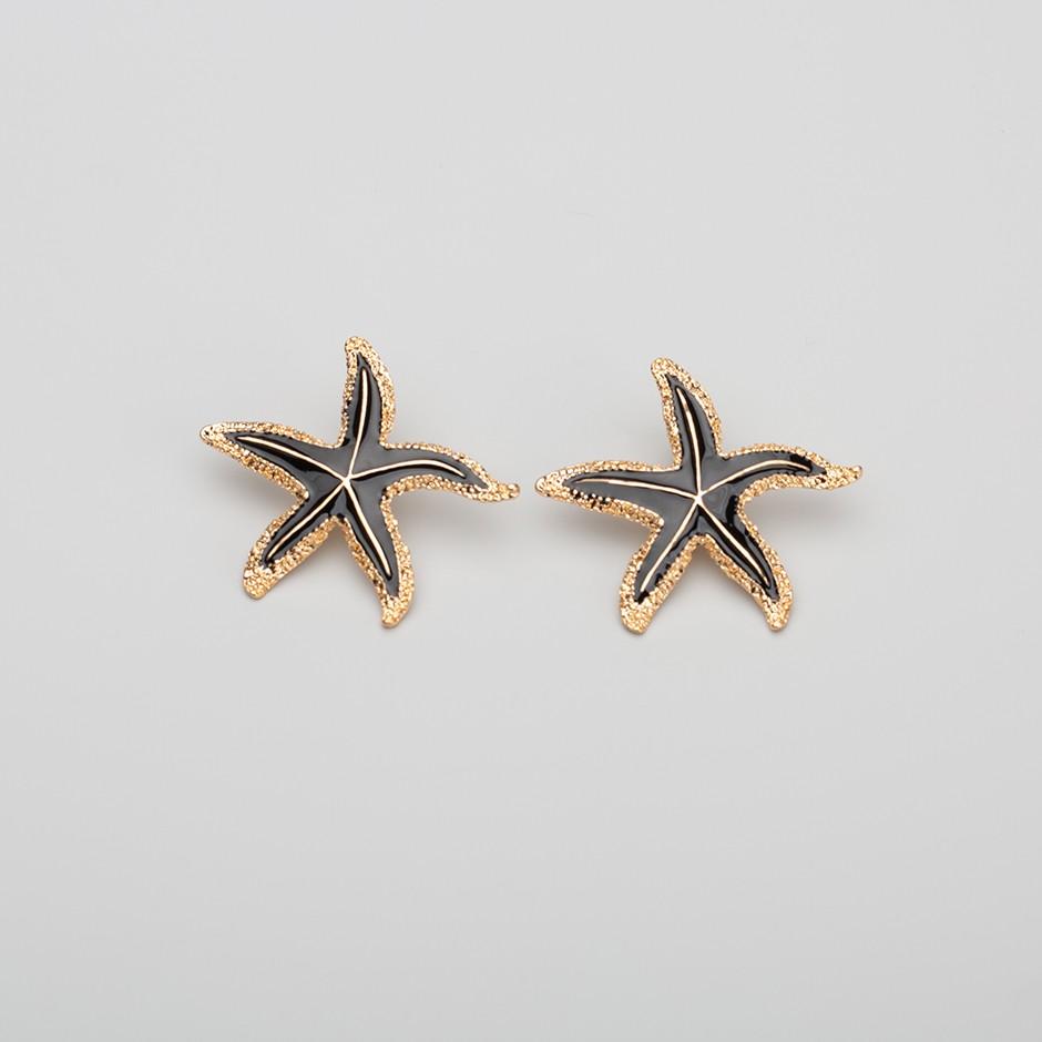 Pendiente estrella de mar negra