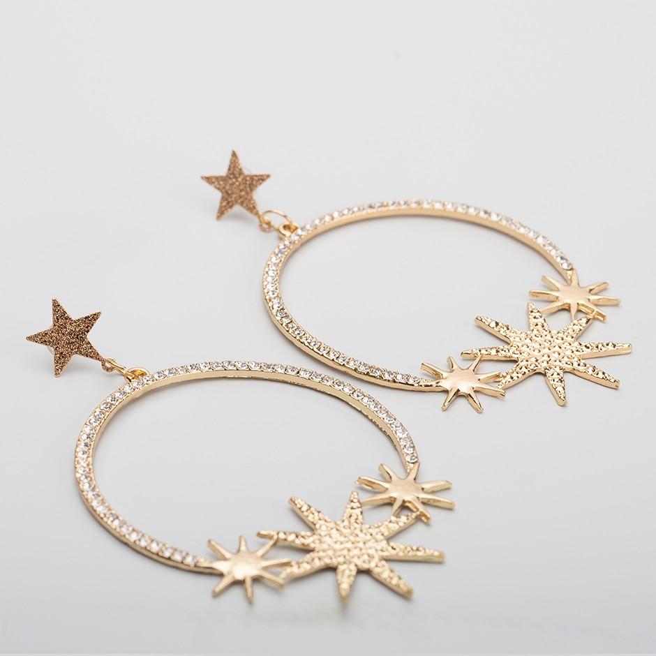 Pendiente maxi aro stars