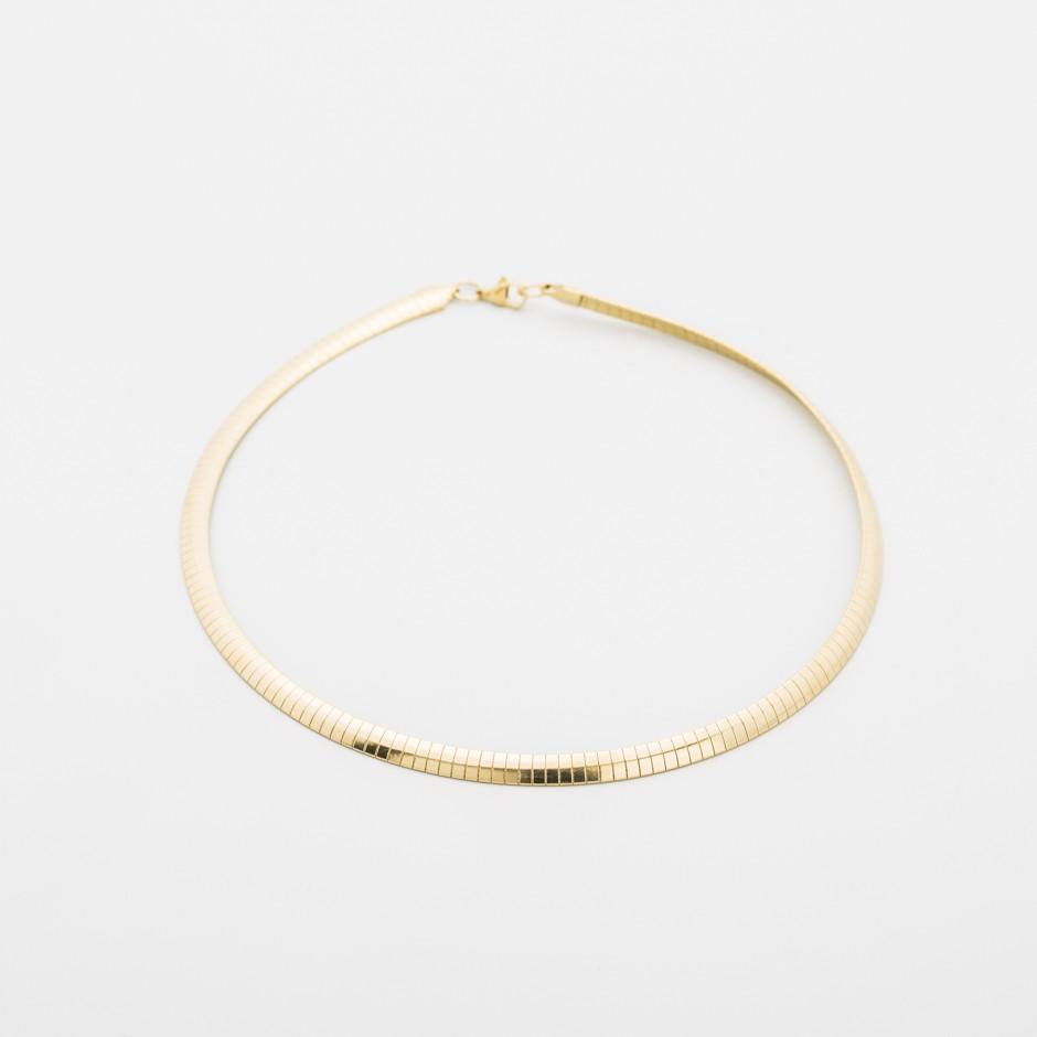 Collar circular acero dorado