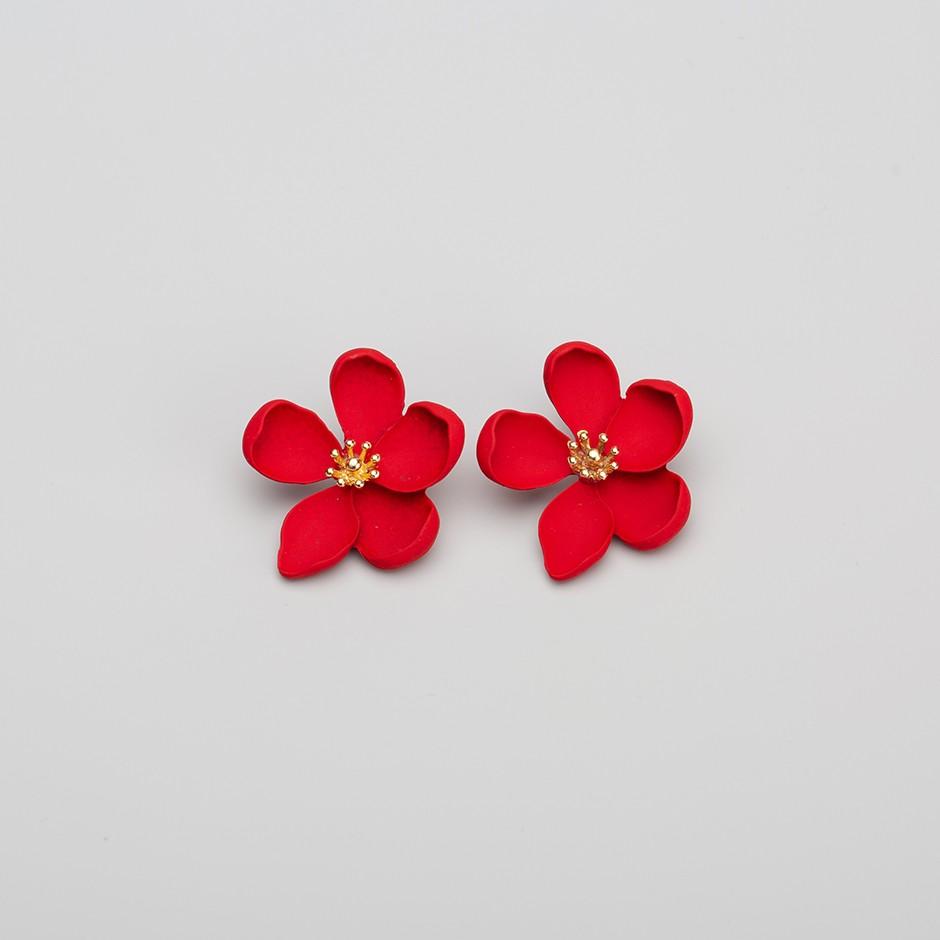 Pendiente primavera rojo