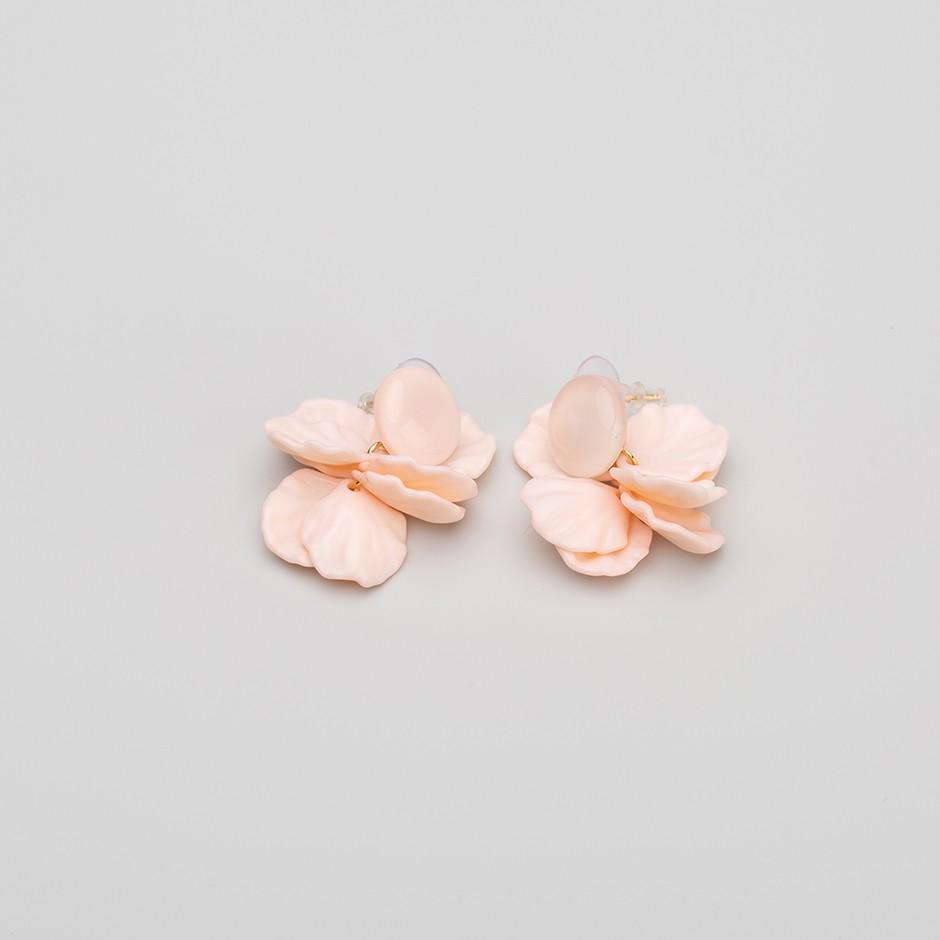 Pendiente botánico rosa