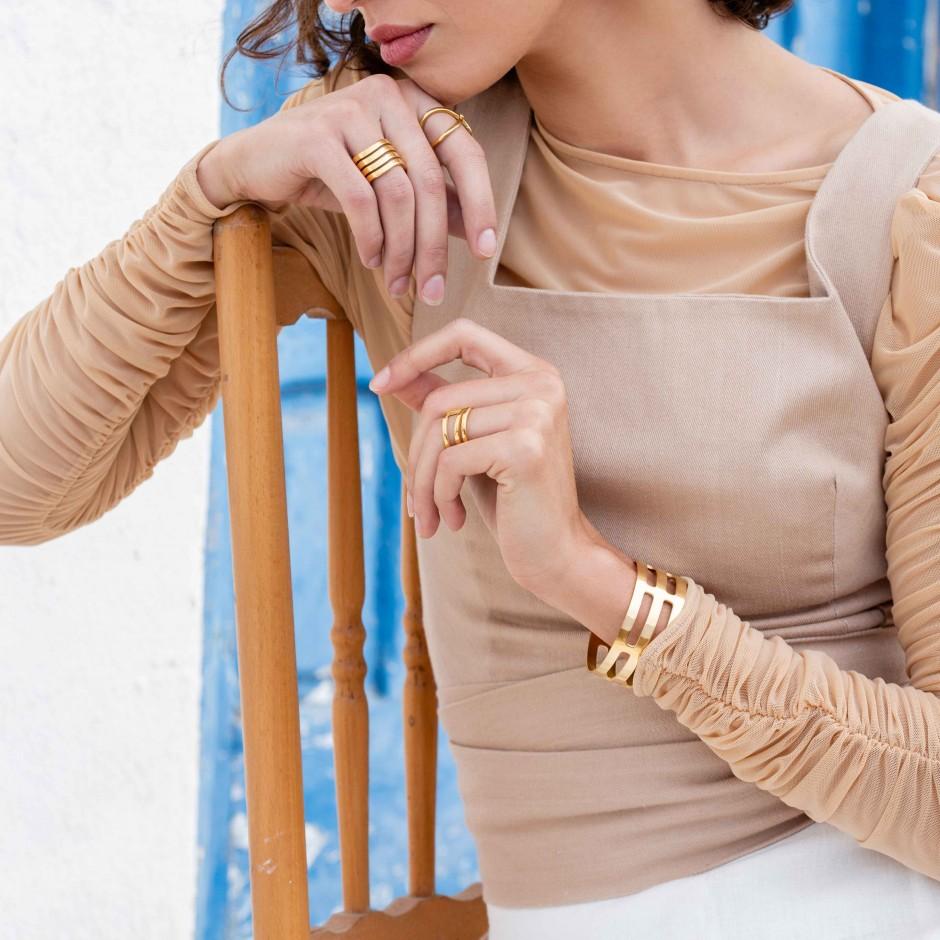 Brazalete celda dorado