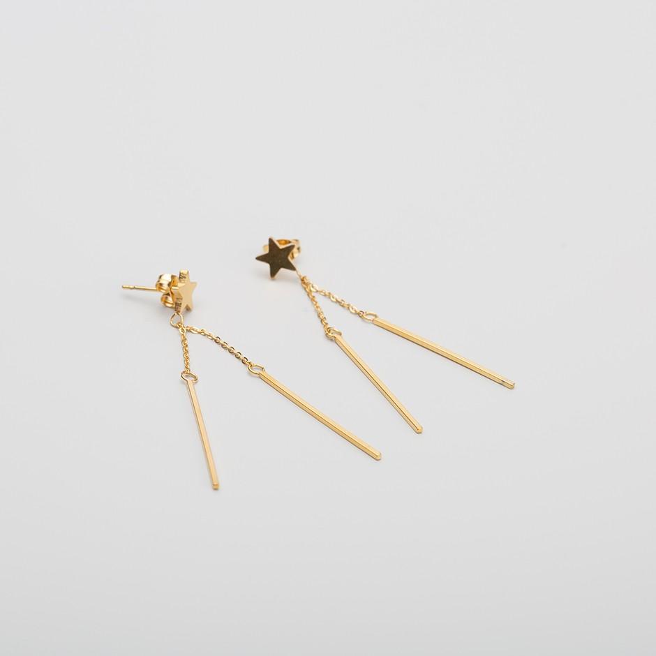 Pendiente LEAH long & mini star