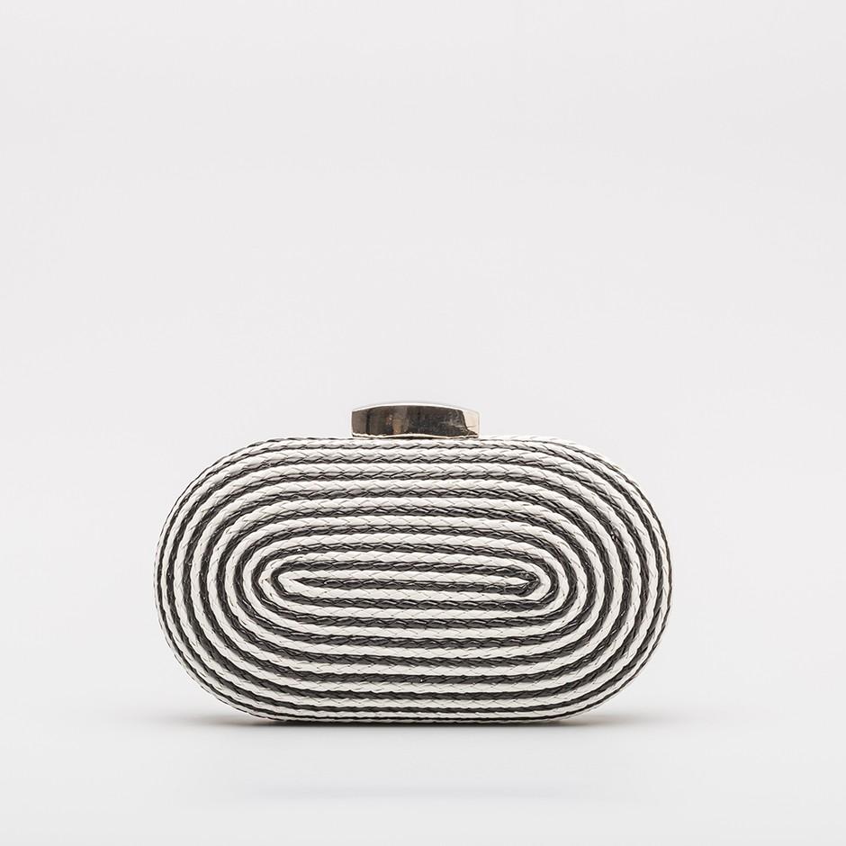 Clutch cordón black & white