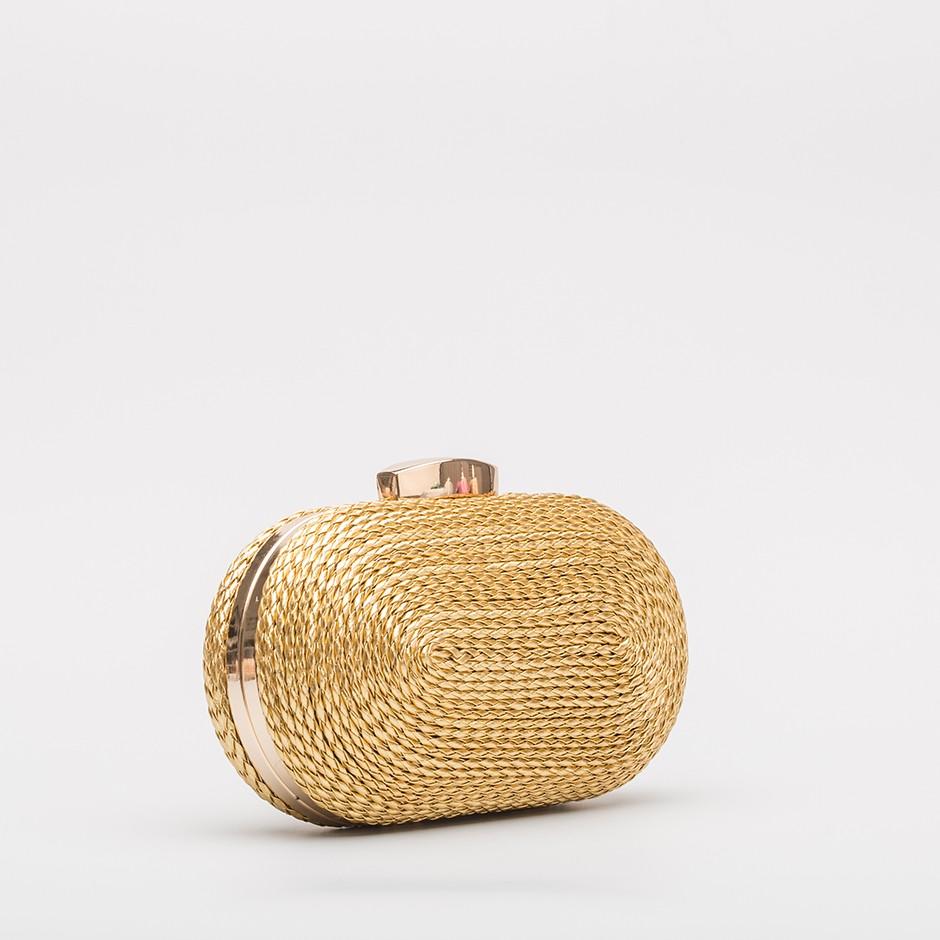 Clutch cordón dorado