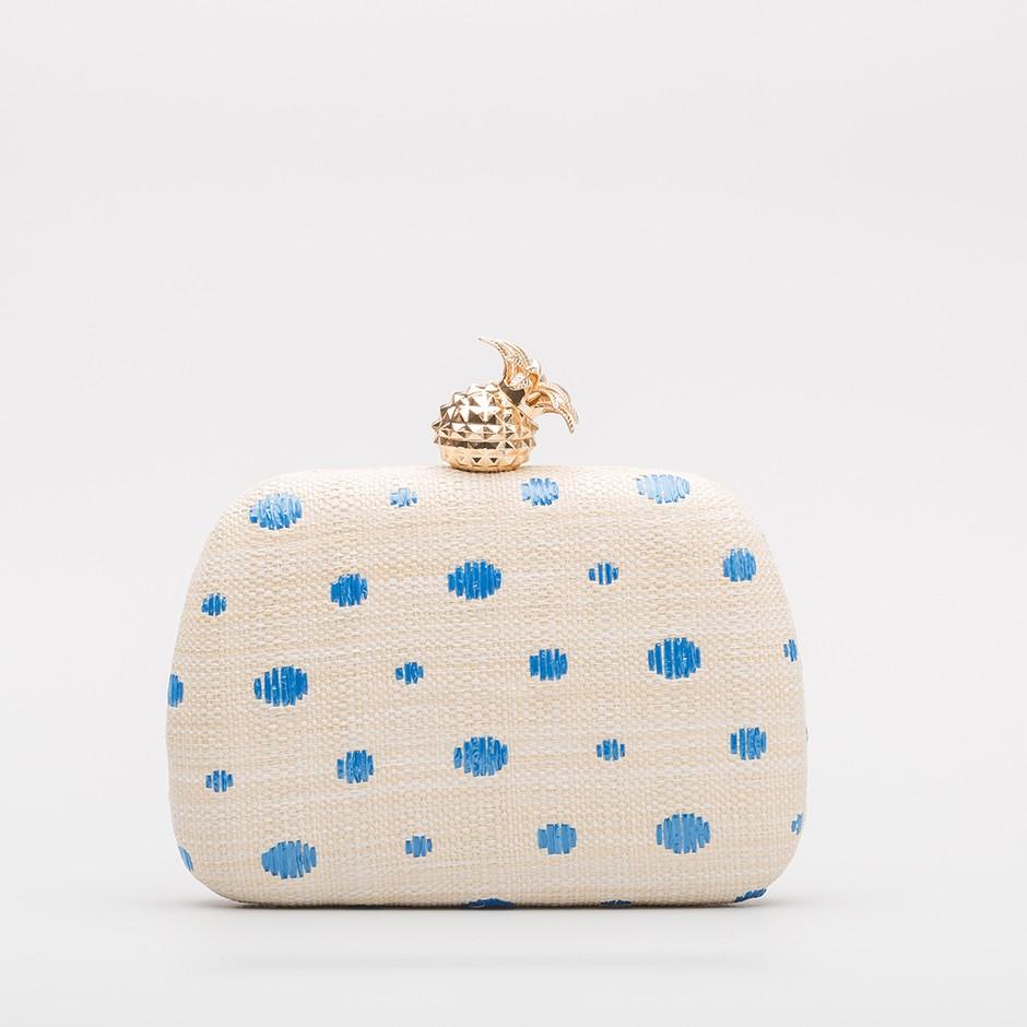 Clutch piña azul