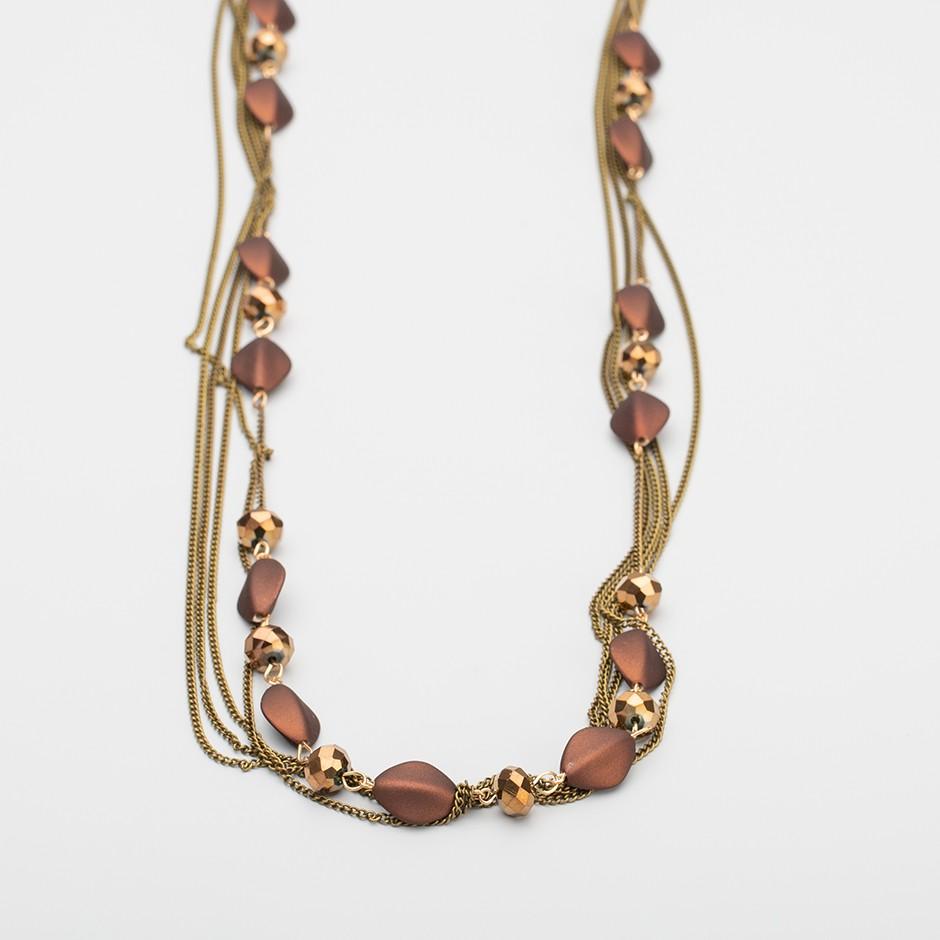 Collar cadena brown