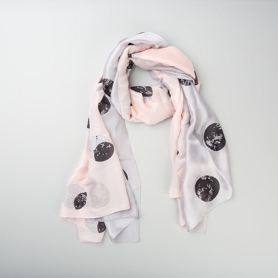 Pañuelo dúo rosa y gris