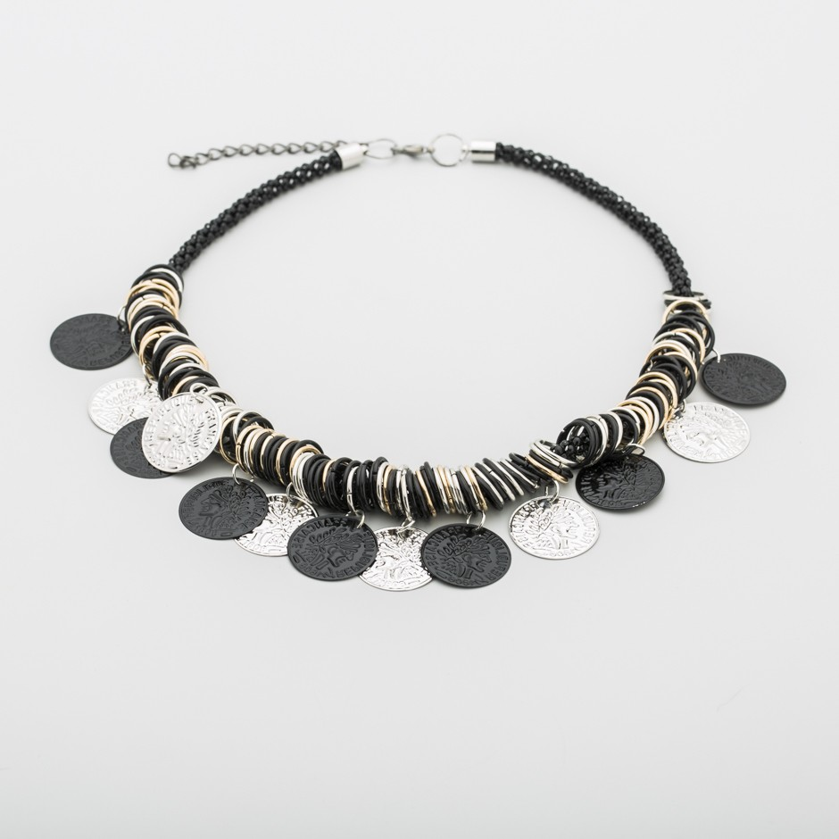 Collar monedas metal