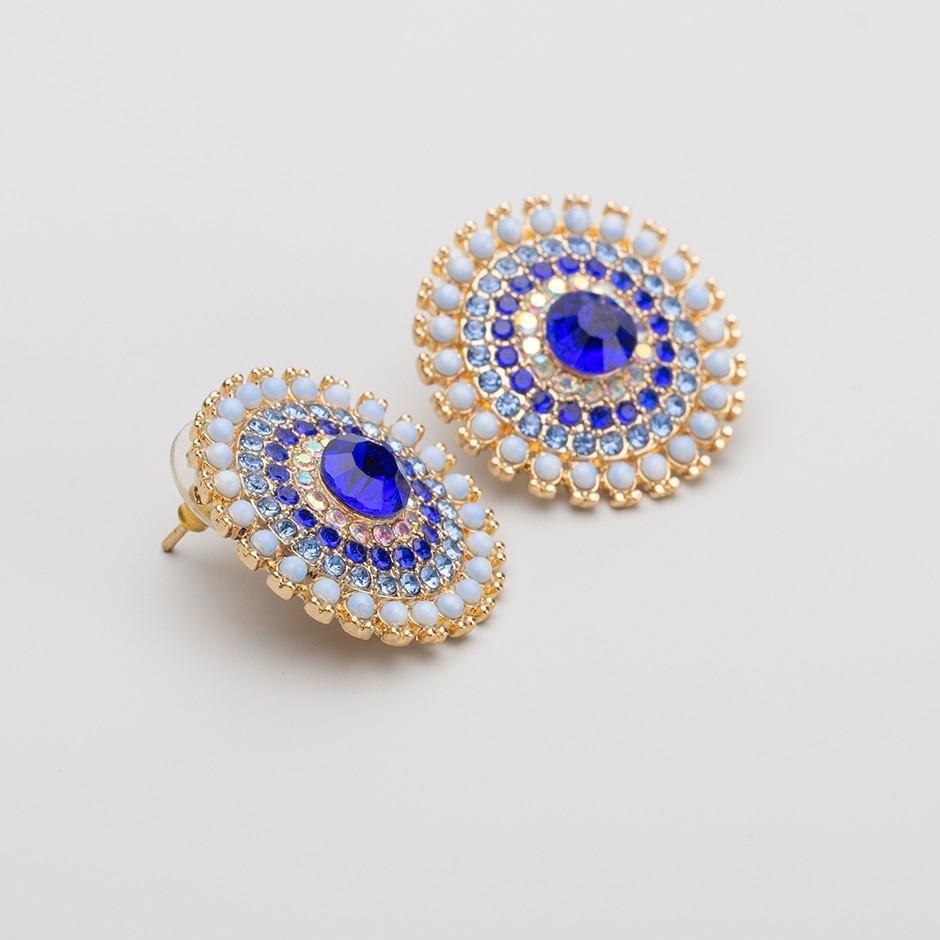 Pendiente india azul