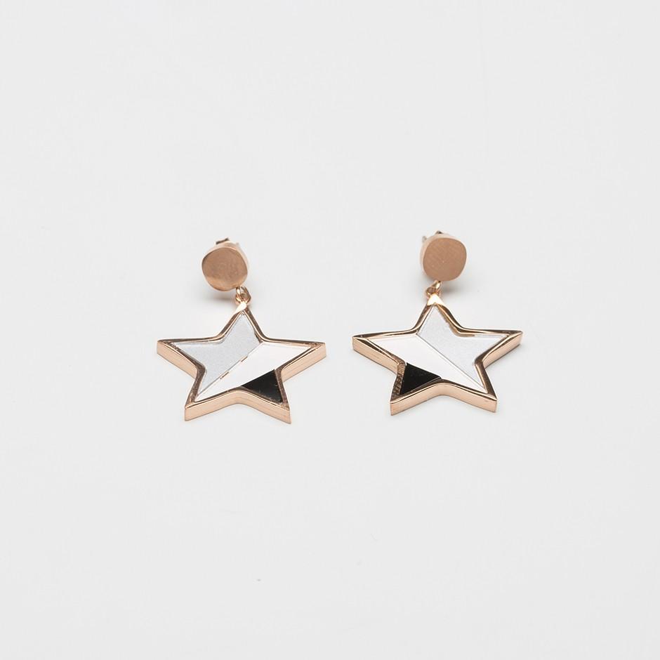Pendiente star grey