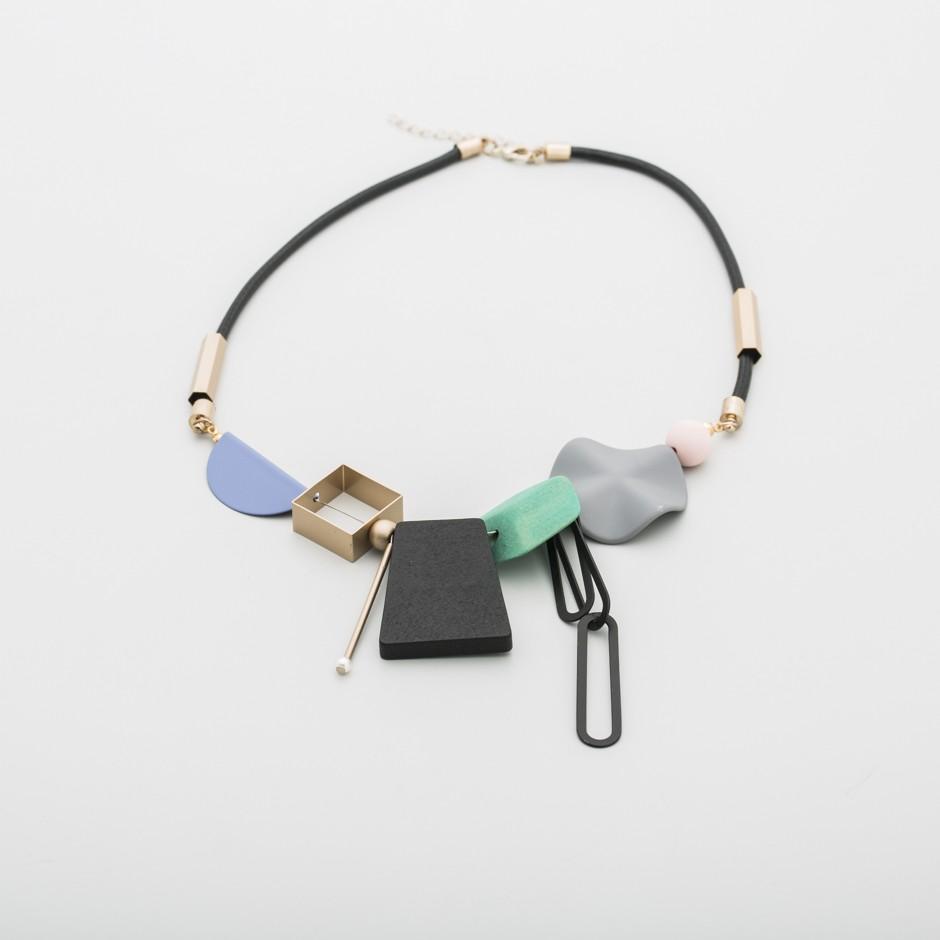 Collar geométricas verde