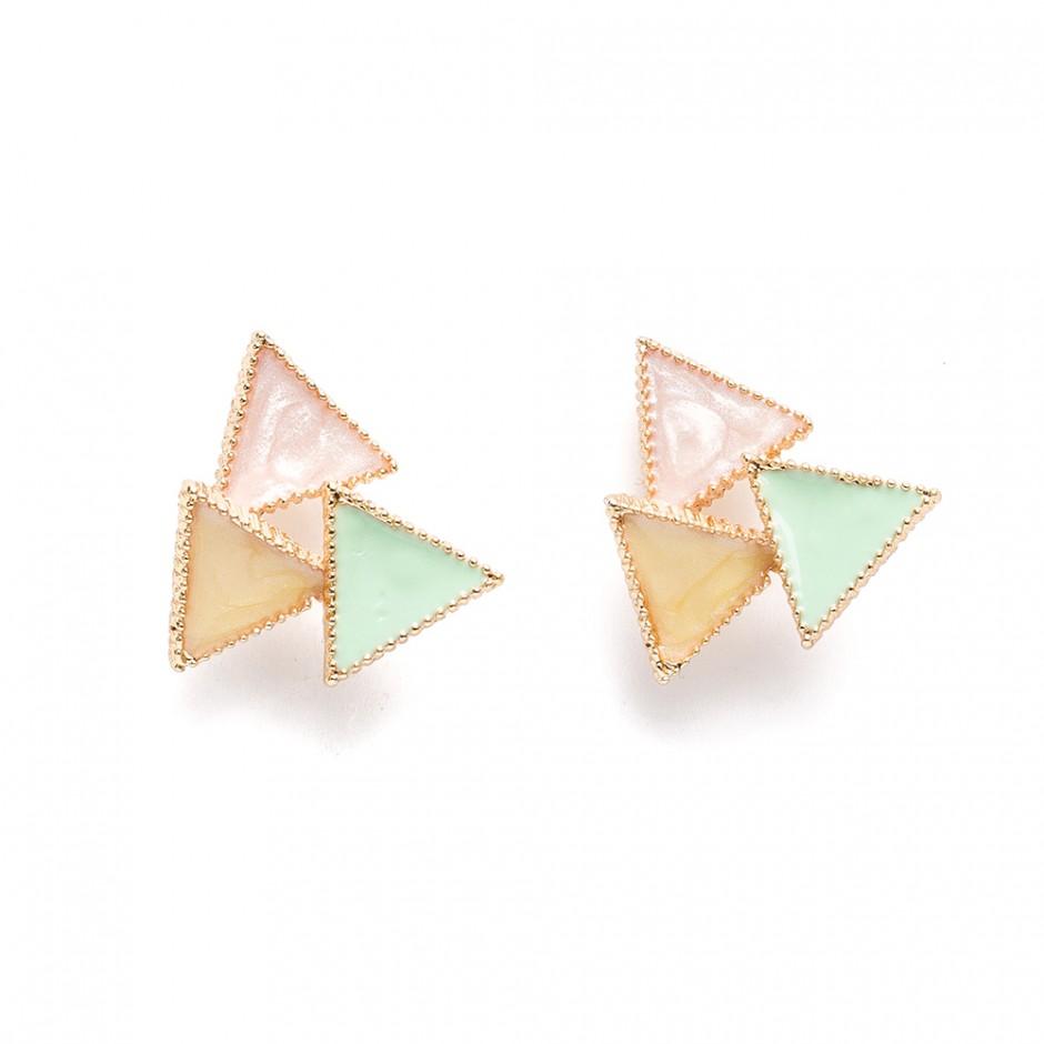 Pendiente triángulo multi verde