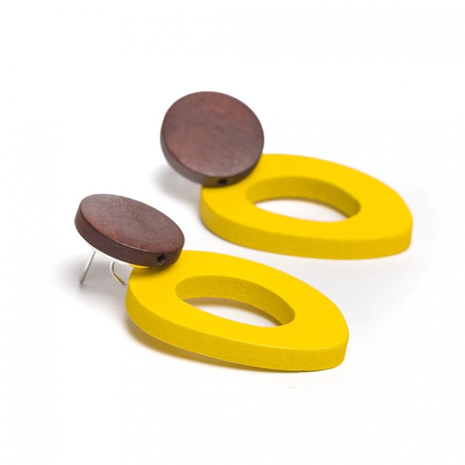 Pendiente donut amarillo