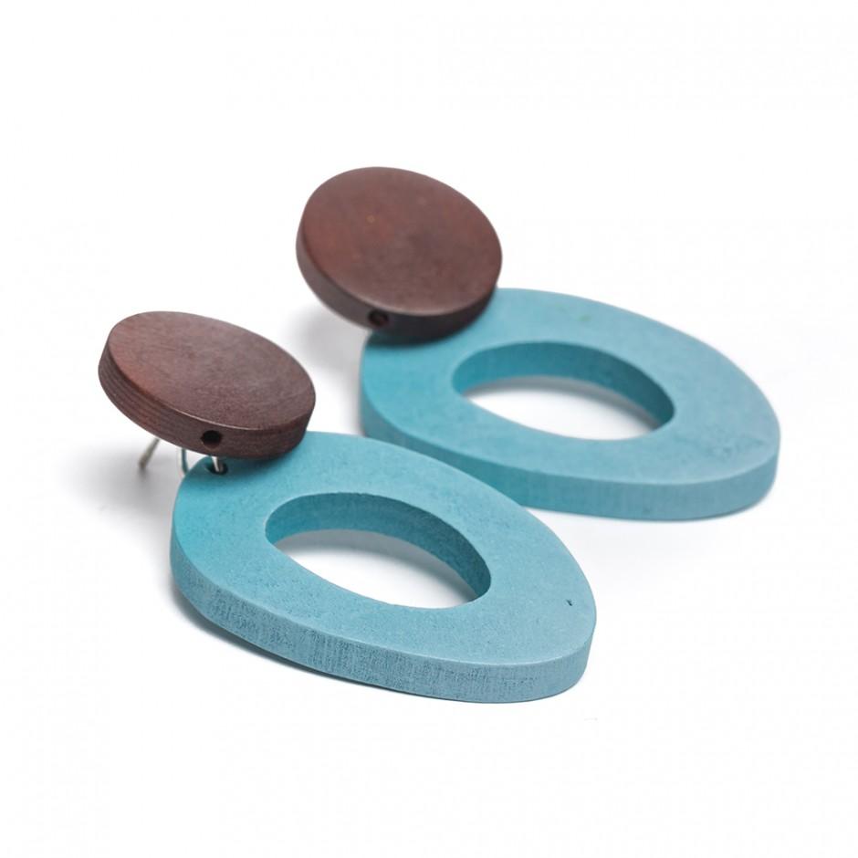 Pendiente donut azul