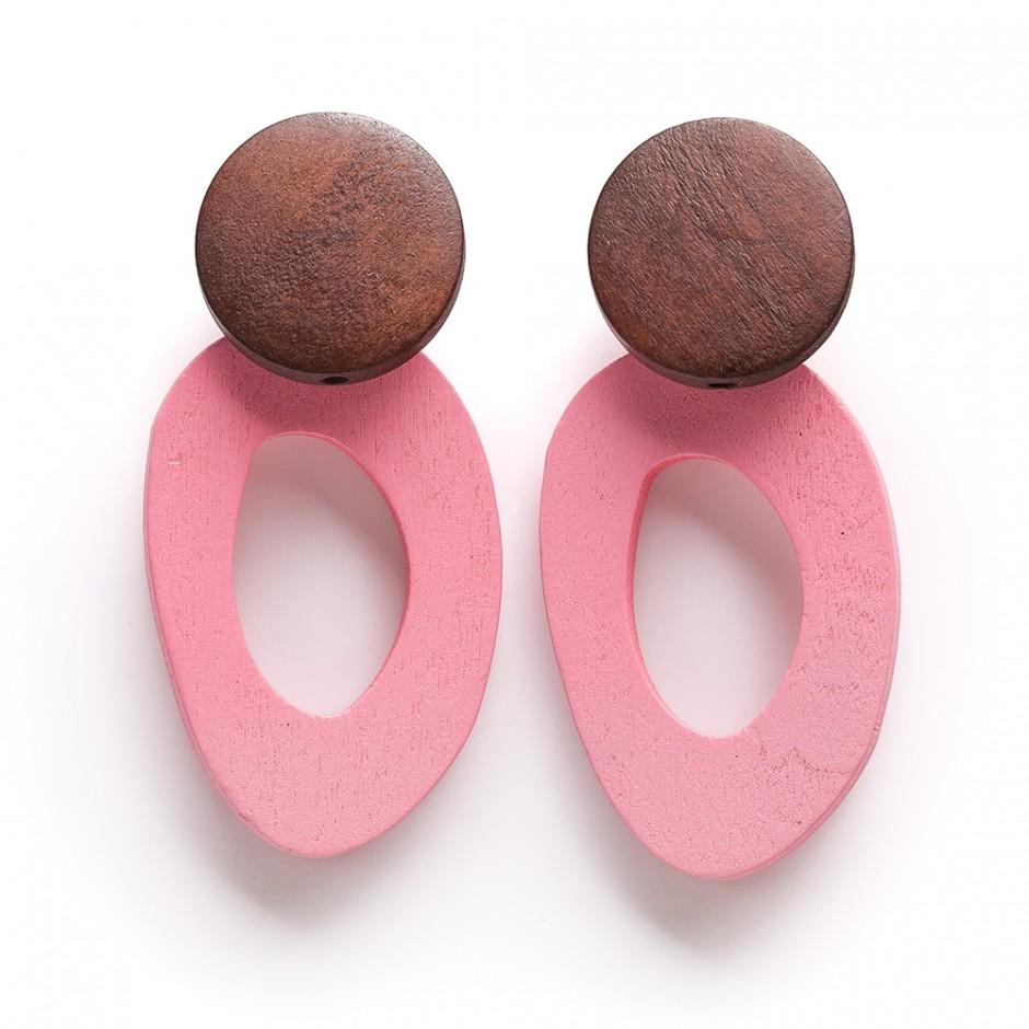 Pendiente donut rosa