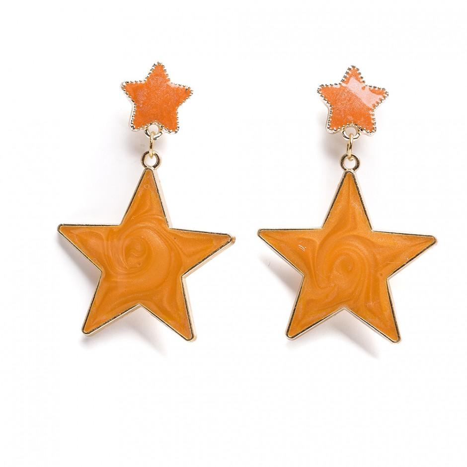 Pendiente estrellas mostaza