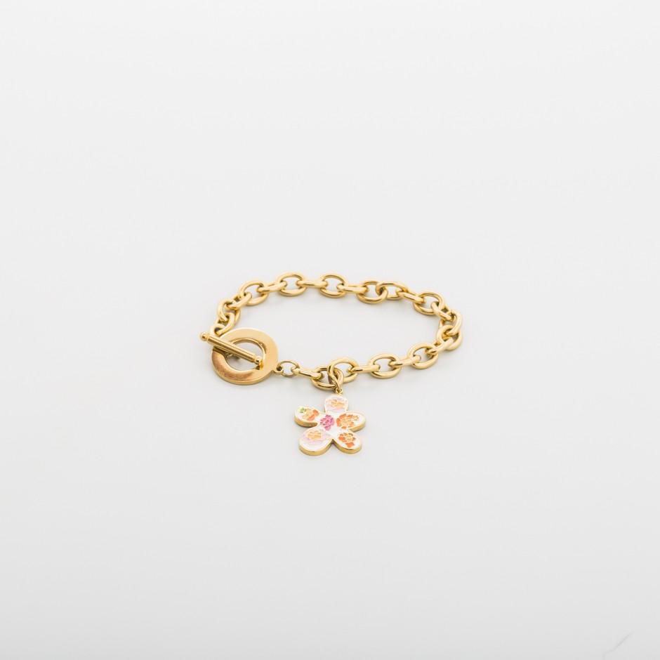 Pulsera cadena flor