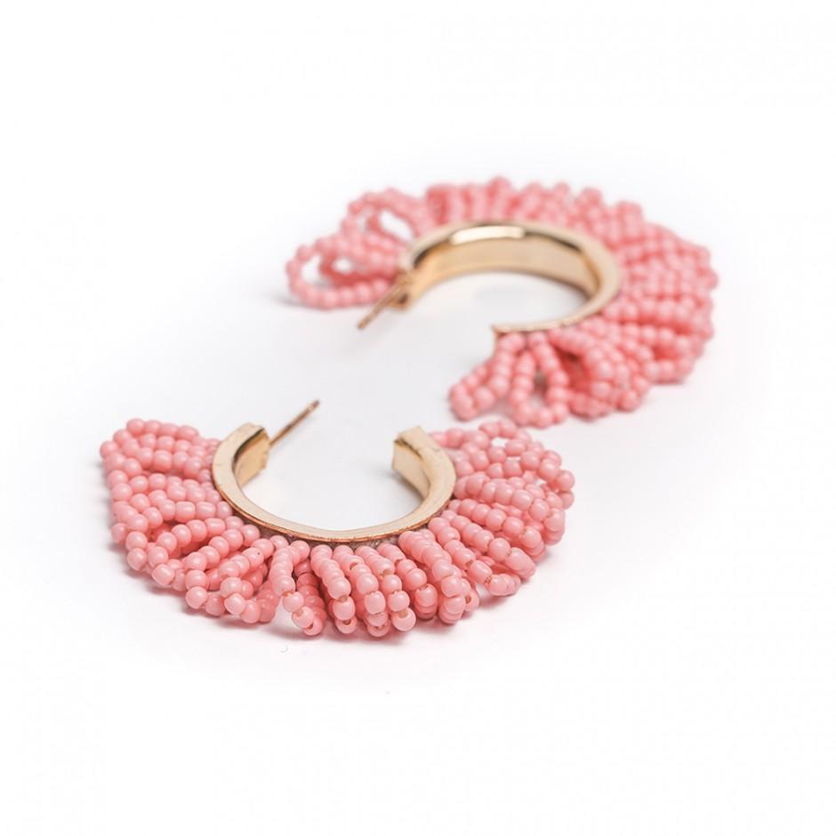 Pendiente ring rosa