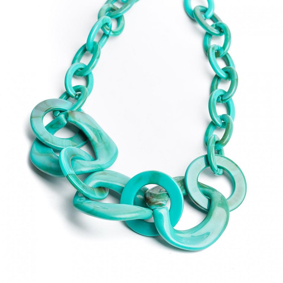 Collar multi cadena turquesa