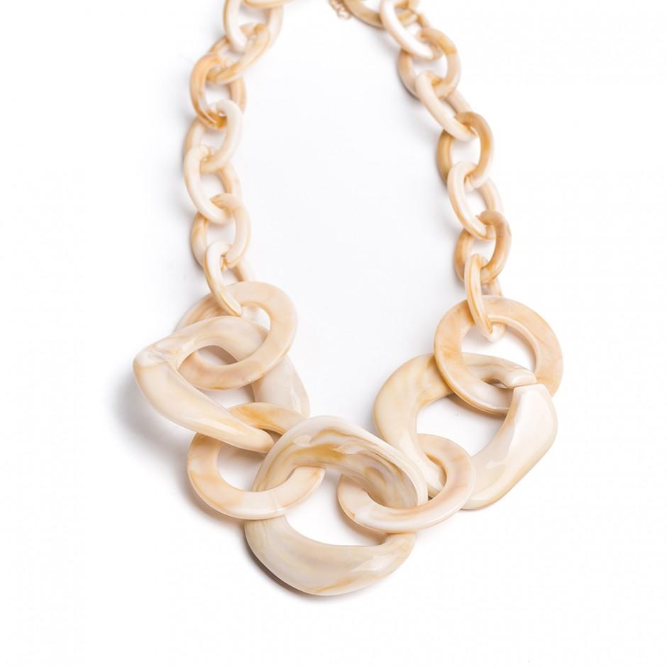 Collar multi cadena beige