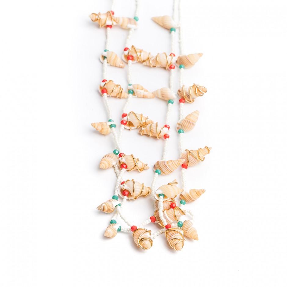 Collar arrecife caracolas mini