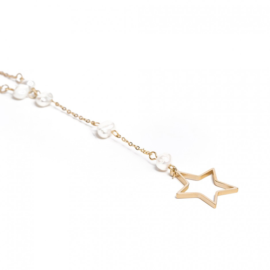 Colgante Leah star and pearl