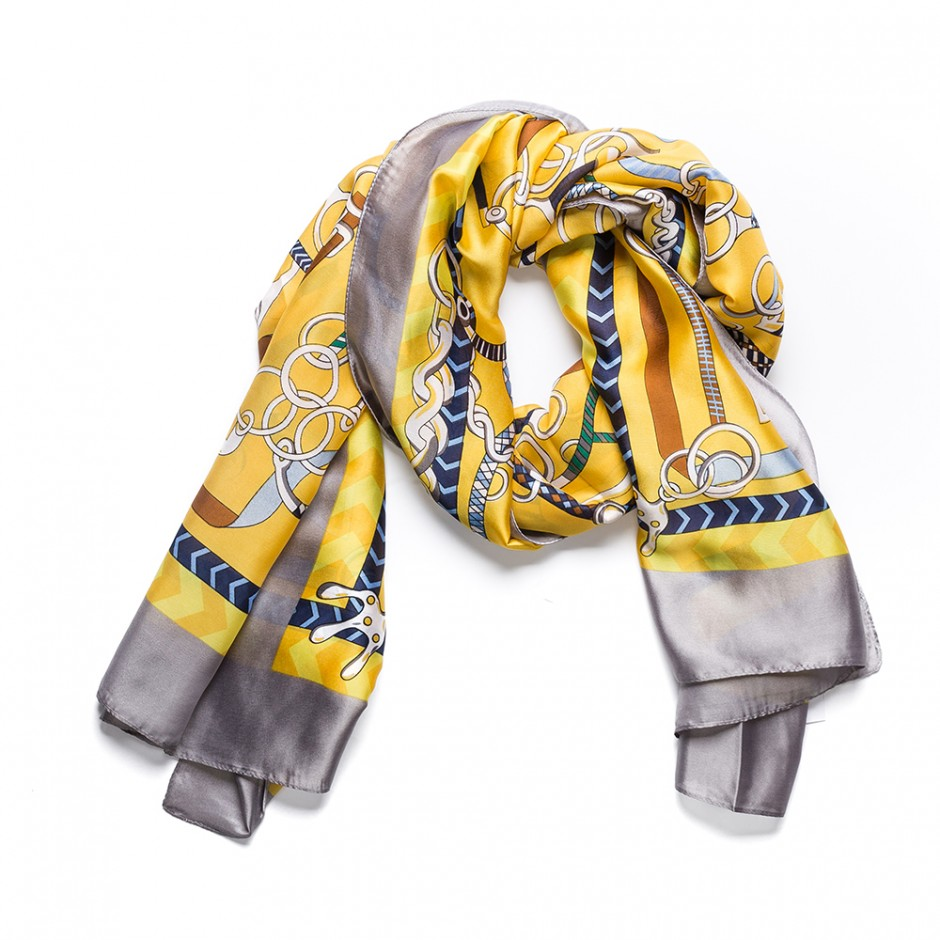 Pañuelo multi cadena amarillo