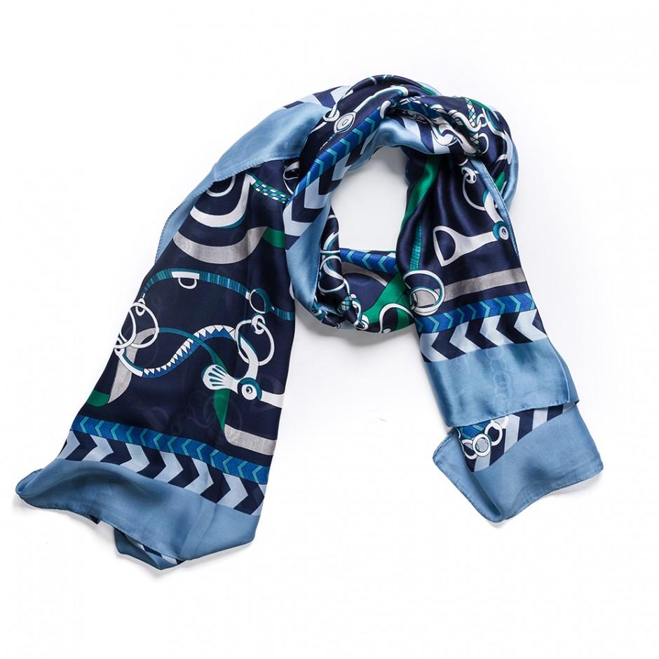 Pañuelo multi cadena azul