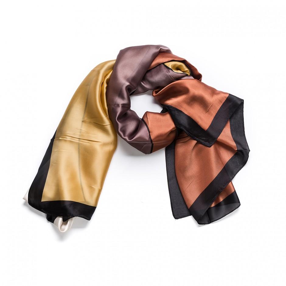 Pañuelo geometría marrón