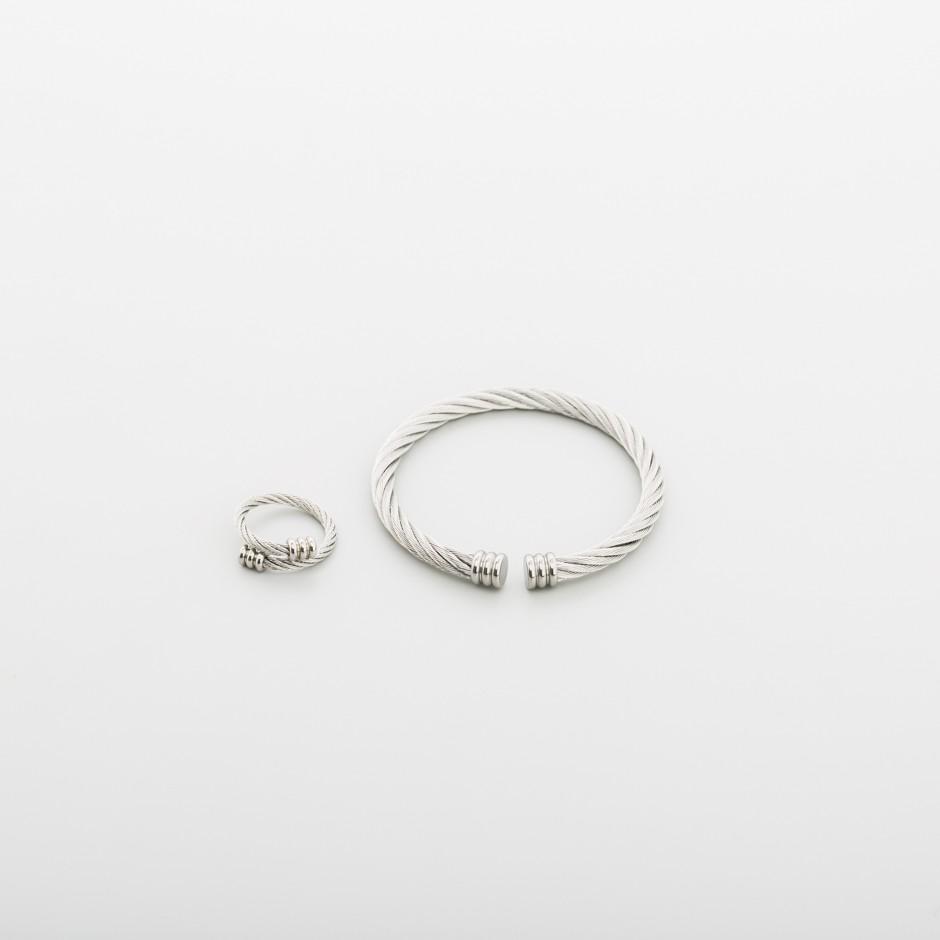 Set acero pulsera y anillo