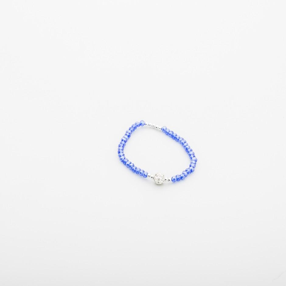 Pulsera abalorios azul clein