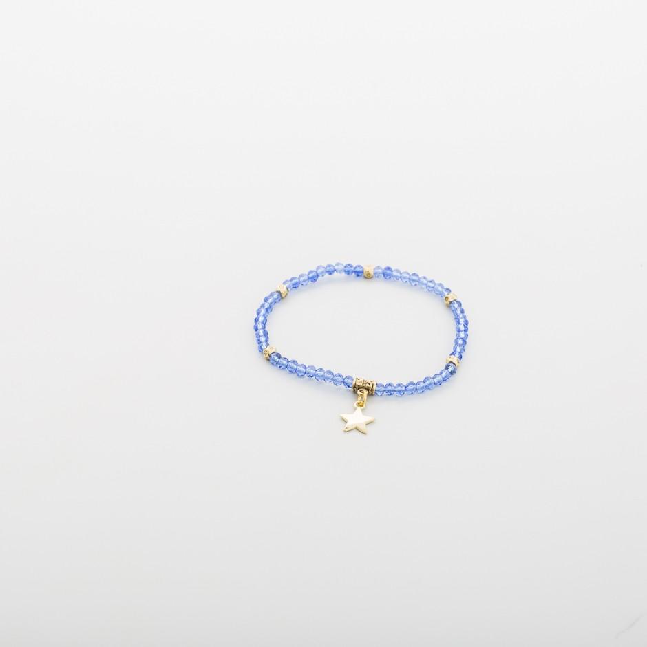 Pulsera abalorios azul cielo