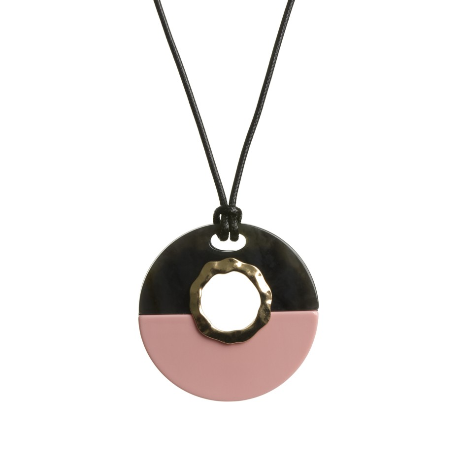 Collar esfera rosa