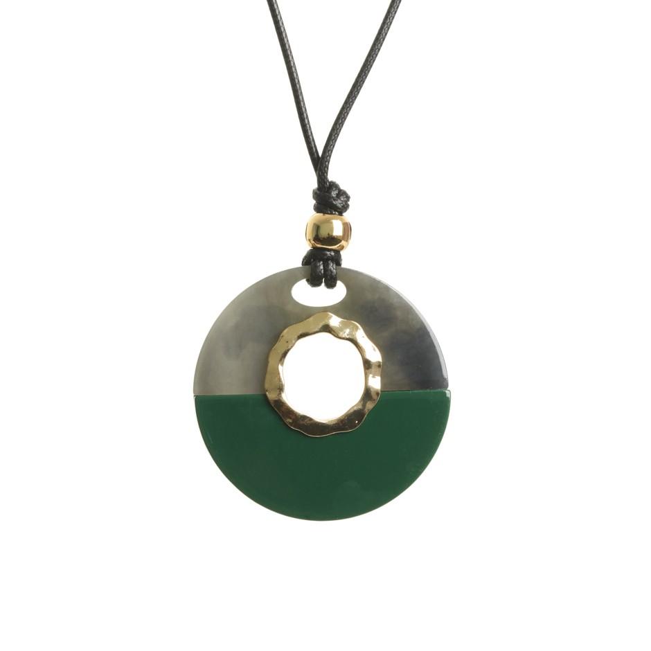 Collar esfera verde