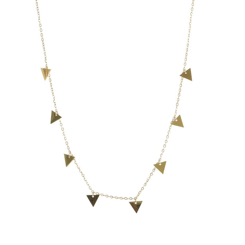 Cadena nora triángulo dorada