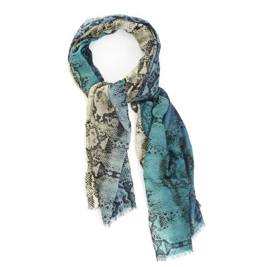 Pañuelo print serpiente azul